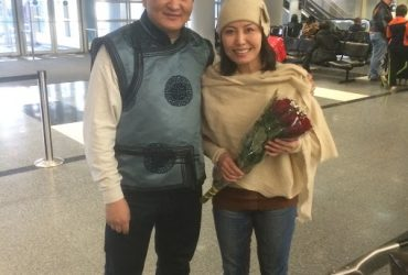 BAYASGALN ARRIVED IN OHARE AIRPORT IN CHICAGO